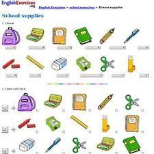 Resultado de imagen de school supplies vocabulary