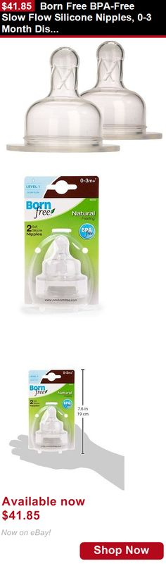Bottle Nipples: Born Free Bpa-Free Slow Flow Silicone Nipples, 0-3 Month Discontinued By BUY IT NOW ONLY: $41.85