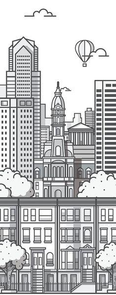 dibujos de ciudades para imprimir - Buscar con Google | cuartoa y ...