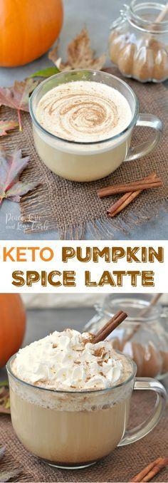 Keto Pumpkin Spice Latte | Peace Love and Low Carb via @PeaceLoveLoCarb