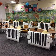 I'm so excited for my kids to see our classroom! Next week we are going on a Safari! Thank you for helping make this happen! thmpride is part of Classroom - Jungle Theme Classroom, Classroom Setting, Classroom Door, Classroom Setup, Classroom Design, Future Classroom, Rainforest Classroom, Dinosaur Classroom, Portable Classroom