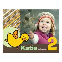 Cute Fun Duckies Ducks Children Kid Birthday Party Custom Invitations This DealsReview on the This website by click the button below...