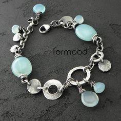 'form 02' - bransoletka z chalcedonami Biżuteria Bransolety formood