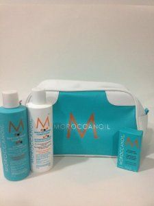 Moroccanoil by Moroccanoil. $89.99. 25ml Oil Treatment. 8 oz Moisture Repair Shampoo. Moroccanoil Cosmetic Bag. 8 oz Moisture Repair Conditioner. Overview       Moisture Repair Shampoo and Conditioner are for hair that has been weakened or damaged by color, chemical processing or heat styling. They restore hair by bathing it in a highly concentrated formula rich in antioxidant argan oil, reconstructive keratin and fatty acids. Both products restore elasticity, moisture an...