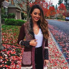 Another shot because I love this cardigan so much ❤️ Hapa Time, Jessica Ricks, Girl Fashion, Fashion Outfits, Anthropologie, Sequin Skirt, Winter Fashion, Cute Outfits, Instagram Posts