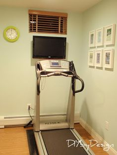treadmill nook  create a fun exercise corner ·  home