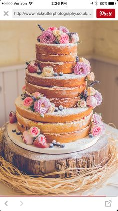Another naked cake.... Undecided