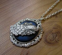 clay cabochon and stamping pendants