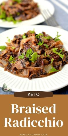 Braised radicchio is a delicious keto side dish that is unique and bursting with flavor! Low in carbs and calories and a total crowd pleaser! Awesome Food, Good Food, Keto Side Dishes, Holiday Festival, Main Meals, Keto Recipes, Crowd, Beef, Unique