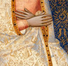 Jacopo di Cione and workshop - The Coronation of the Virgin - Central Main Tier Panel (detail)