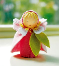 Cherry Blossom felt doll - check out the blog site if you love stuff like this…