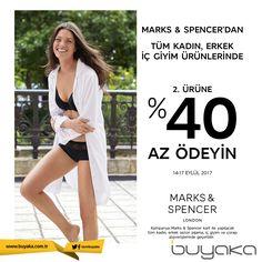Buyaka Marks&Spencer 'da tüm kadın, erkek ürünlerinde 2. ürüne %40 az ödeme fırsatı! #BuyakaBiBaşka #Kampanya #MarksSpencer #İndirim #BuyakaAvm