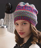 Ravelry: Slouchy Fair Isle Hat pattern by Sheila Joynes