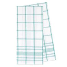Picture of Plaid Aqua Twill Tea Towel - 2 Pack