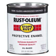 Rust-Oleum Quart Size Container Exterior Gloss Anodized Bronze Oil-Base Paint (Actual Net Contents: 32-fl oz)