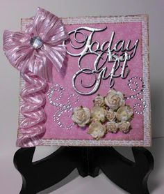 A2Z Scraplets - Today is a gift in pink #a2zscraplets #todayisagift