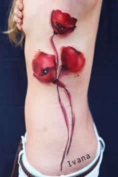 Ivana Tattoo Art - Watercolor Poppies flowers