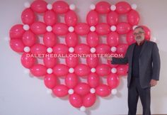 Balloon Heart for a Valentine Photo Opp at a Valentine Banquet. Qualatex posted step-by-step directions on how to construct.
