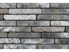 Klinkerriemchen / Retro Riemchen K298R / Klinker / Fassade / Muster / Tafel / graubunt weiß geschlämmt gedämpft