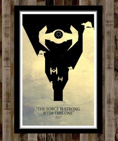 Star Wars Minimalist Movie Poster  13 X 19 Home by BigTimePosters, $19.99