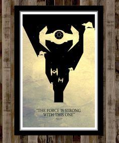 Star Wars Minimalist Movie Poster  13 X 19 Home by BigTimePosters, $19.99