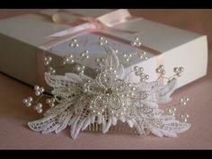 Arranjo cabelo noiva em renda guipur | Adore Noivas - YouTube