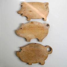 pig cutting board set