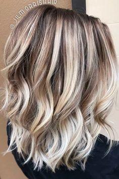 #HairCareOil Hair Color Highlights, Hair Color Balayage, Blonde Balayage, Hair Colour, Blonde Color Hair, Ombre Hair, Blonde Hair Lowlights, Blonde With Brown Lowlights, Platinum Blonde Highlights