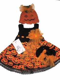 Mic Crafts Handmade Crochet Baby Costume Halloween Jack O'Lantern 3pc | eBay