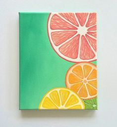 ärt îdèªś Colorful Wall art Bright wall art Fruit painting citrus art Kitchen decor 8 x 10 original acrylic painting Acrylic Painting acrylic acrylic painting Art Bright citrus Colorful Decor fruit ideas Kitchen Original painting Wall Simple Canvas Paintings, Easy Canvas Art, Small Canvas Art, Easy Canvas Painting, Mini Canvas Art, Cute Paintings, Diy Canvas, Diy Painting, Painting Walls