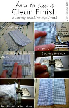 Feather's Flights: A Sewing Blog: Sewing 101 - How to Sew a Clean Finish