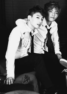 Two handsome boys, Jungkook and V