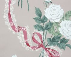 1940s Vintage Wallpaper by the Yard Floral by HannahsTreasures
