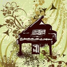 Piano Drawing - Retro Piano  by ClipartDesign