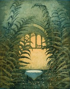 kesapalatsi by Leena Talvitie (an amazing artist I randomly saw on Etsy) Collage Drawing, Japanese Prints, Dream Garden, Ferns, Art Images, Finland, Flower Art, Printmaking, Contemporary Design