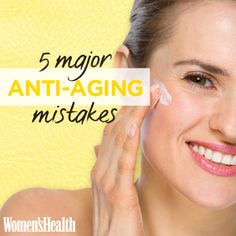 5 Major Anti-Aging Mistakes Tons of Women Make http://www.womenshealthmag.com/beauty/best-anti-aging-skin-care