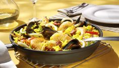 Meeresfrüchte Paella - New Ideas Chorizo, Ethnic Recipes, Food, Mussels, Maggi Recipes, Spain, Simple, Red Peppers, Fresh