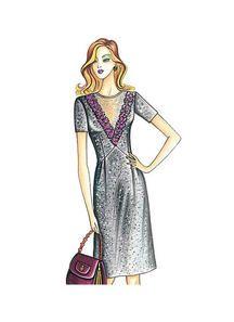 Marfy | Page 9 | McCall's Patterns Marfy Patterns, Vogue Sewing Patterns, Dress Patterns, Fashion Sewing, Fashion Art, Vintage Fashion, Womens Fashion, Dress Illustration, Beauty Illustration