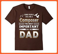 Mens BeeTee: Most Important Call Me Composer Dad T-Shirt Small Brown - Relatives and family shirts (*Partner-Link)