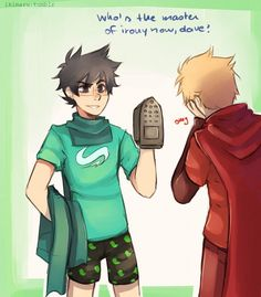 Tags: Anime, Covering Face, Homestuck, Dave Strider, John Egbert, Iron (Object), Sunny (Ikimaru)
