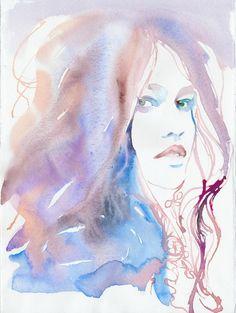 Bridget  Couleurs pastels douces avec un soupçon de magenta.    Professionnel darchivage estampes en 4 tailles sur BFK Rives Fine Art, Musée