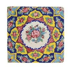 A Zand pottery tile. Christie´s  IRAN, 18th Century Persian Pattern, Persian Motifs, Ceramic Painting, Ceramic Art, Tile Painting, Tile Patterns, Pattern Art, Islamic Tiles, Paisley Art