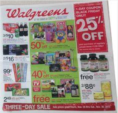 #Walgreens Black Friday 2013 Ad #blackfriday #holidayshopping #christmasdeals