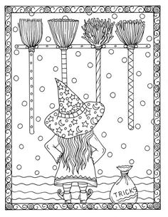 5 pages of Magical Witches to color halloween by ChubbyMermaid Halloween Coloring Sheets, Witch Coloring Pages, Adult Coloring Pages, Coloring Books, Henna Style, Halloween Doodle, Fathers Day Crafts, To Color, Coloring For Kids