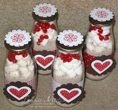 Hot chocolate mix, Marshmellows and Red hots!!