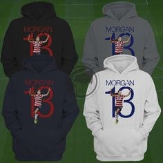 7a29ec8e5 Alex Morgan USWNT Hoodie - Alex Morgan Soccer Sweatshirt - Size S to XXL  Custom Apparel