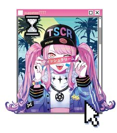 "TSCR on Twitter: ""vaporwave… "" Vaporwave, Japanese Aesthetic, Pastel Goth, Cartoon Art, Art Girl, Darth Vader, Kawaii, Neon, Drawings"
