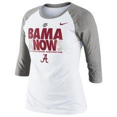 Alabama Crimson Tide Nike Knows Women's 2013 BCS National Championship Game Bound 3/4 Sleeve T-Shirt