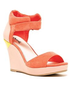 Another great find on #zulily! Coral Colette Wedge by Qupid #zulilyfinds