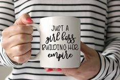 Just a Girl Boss Building Her Empire Motivation Coffee Mug Decal Vinyl Decal DIY Mom Life Mama Bear Girl Boss Boss Lady I Can't Adult Today SVG Cut File • Cricut • Silhouette Vector • Calligraphy • Download File • Cricut • Silhouette Cricut projects - cricut ideas - cricut explore - silhouette cameo By Kristin Amanda Designs